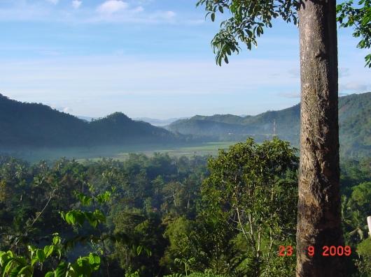 Pemandangan Talang Maur dari atas bukit